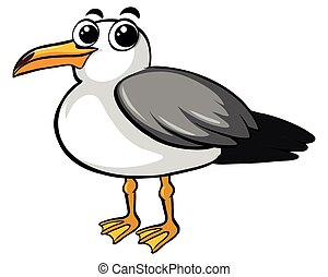 Pigeon bird with happy face