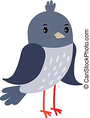 Pigeon cartoon bird icon