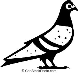 Pigeon Dove Black and White
