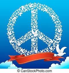 pigeon, former, paix