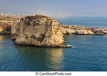 Pigeon Rocks in Raouche District, Beirut