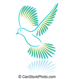 Pigeon. Vector illustration.