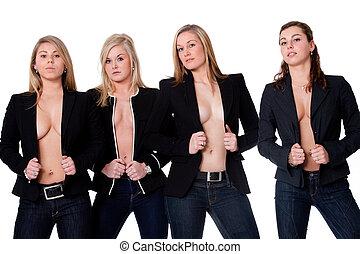 piger, 4, topløs