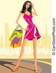 piger, mode, indkøb