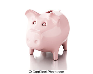 Piggy bank. 3d illustration