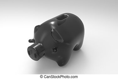 Piggy Bank 3D Render