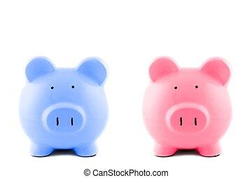 Piggy Bank - A close up shot of a piggy bank