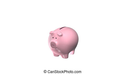 Piggy bank, alpha matte
