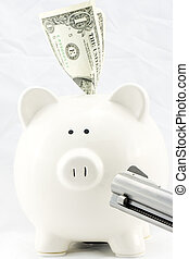 Piggy Bank at Gunpoint