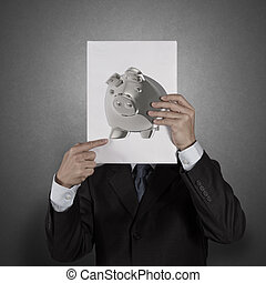 piggy bank business man concept creative