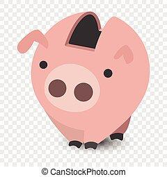 Piggy bank cartoon illustration