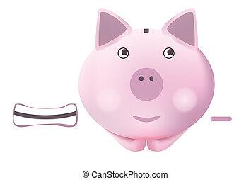 Piggy bank - Illustration of pig piggy bank