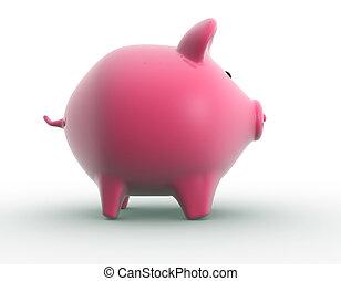 Piggy bank. 3d render