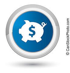 Piggy bank dollar sign icon prime blue round button