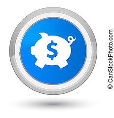 Piggy bank dollar sign icon prime cyan blue round button