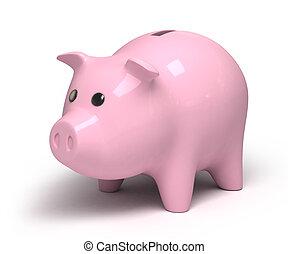 Piggy bank, 3d image