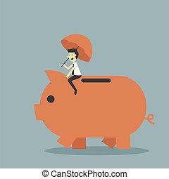 piggy bank - protect piggy bank