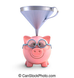 Piggy Bank Funnel - Piggy bank with funnel to get all the...