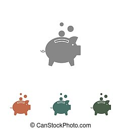 piggy bank icon isolated on white background