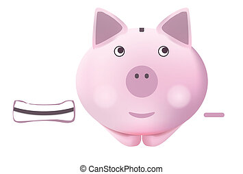 Piggy bank - Illustration of pig piggy bank