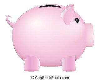 piggy bank on a white background. Vector illustration.