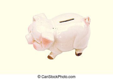 Piggy Bank Isolated on White Background with clipping path