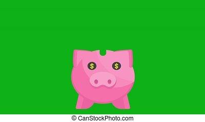 Piggy Bank Luma Matte - Save money concept with piggy bank....