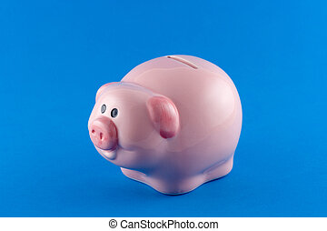 A porcelain pig money box