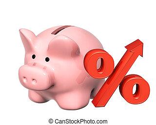 piggy bank, og, cents per, symbol