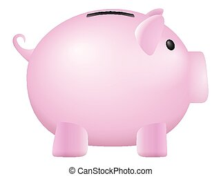 piggy bank on a white background. Vector illustration.