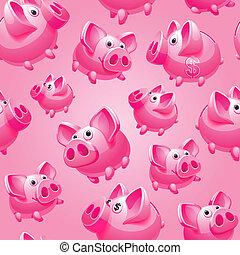 Piggy Bank on pink background