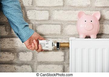 Piggy Bank On Radiator