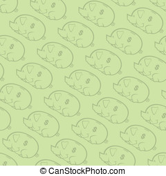 Piggy Bank Pattern 2 - This is a seamless vector pattern of...