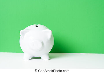 Piggy bank - A piggy bank, can be used for...