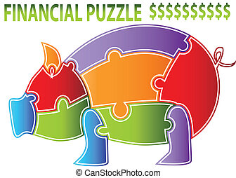 Piggy Bank Puzzle - An image of a piggy bank puzzle.