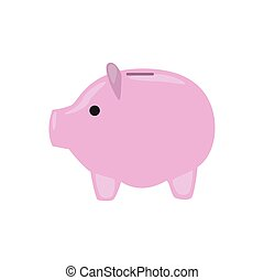 Piggy bank safe on white background for graphic and web design, Modern simple vector sign. Internet concept. Trendy symbol for website design web button or mobile app.