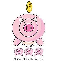 Piggy Bank Savings Cartoon