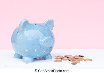 Piggy bank, savings concept