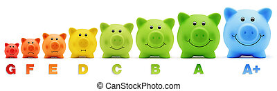 piggy bank scale energy savings