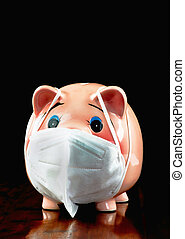 Piggy Bank suffering from COVID-19