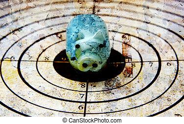 Piggy bank target concept