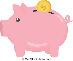 Piggy bank. Vector Illustration EPS 10. Piggy object