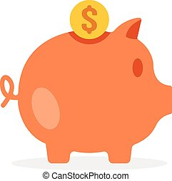Piggy bank. Vector illustration