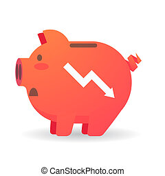 Piggy bank with a graph