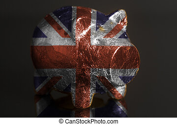 Piggy bank with British flag
