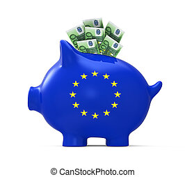 Piggy Bank with Euro