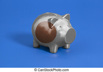 Piggy bank with Japan flag