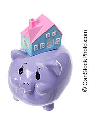 Piggy Bank with Miniature House
