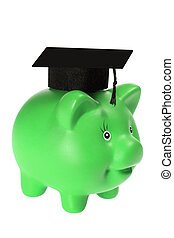 Piggy Bank with Mortarboard