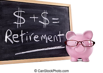 Piggy Bank with retirement calculation